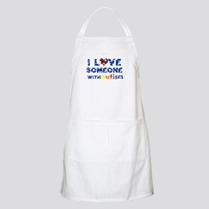 I love someone with Autism BBQ Apron