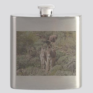Mommy and Baby Burro Flask