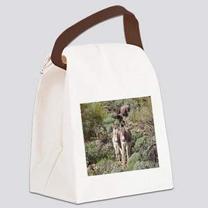 Mommy and Baby Burro Canvas Lunch Bag