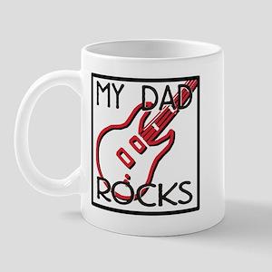 Father's Day My Dad Rocks Mug