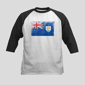 Vintage Anguilla Flag Kids Baseball Jersey