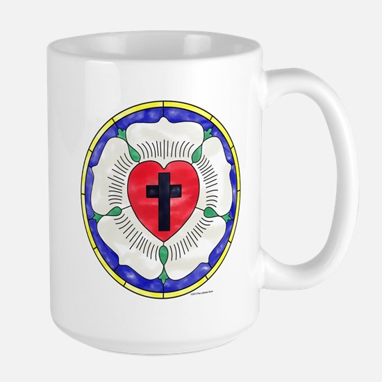 Luther Seal Stained Glass Window Travel Mugs