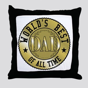 Father's Day World's Best Dad Throw Pillow