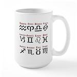 Italian Zodiac Large Mug