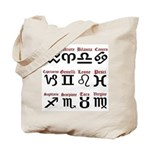 Italian Zodiac Tote Bag