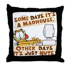 Garfield Just Nuts Throw Pillow