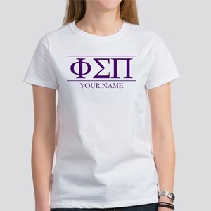 Phi Sigma Pi Letters Women's Classic White T-Shirt