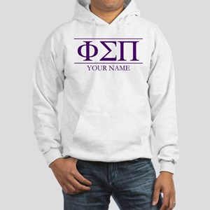 Phi Sigma Pi Letters Personalize Hooded Sweatshirt