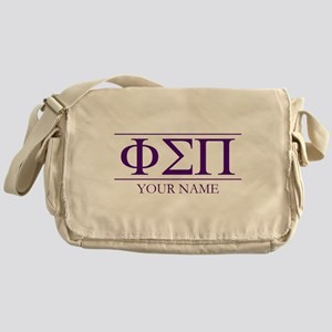 Phi Sigma Pi Letters Personalized Messenger Bag