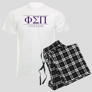 Phi Sigma Pi Letters Personal Men's Light Pajamas