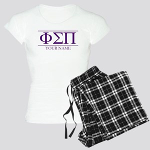 Phi Sigma Pi Letters Person Women's Light Pajamas
