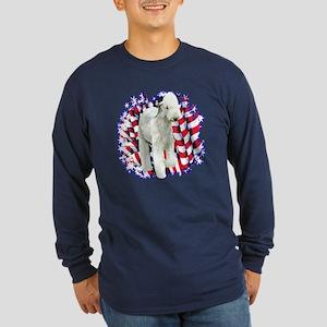 Bedlington Patriotic Long Sleeve Dark T-Shirt