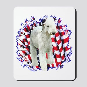 Bedlington Patriotic Mousepad