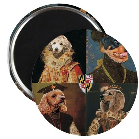 """MD Shakespeare Dogs 2.25"""" Magnet (100 pack)"""