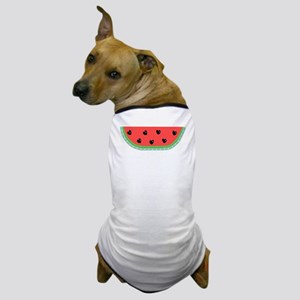 Watermelon with Heart Seeds Dog T-Shirt