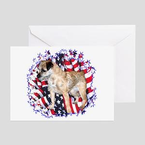 Border Terrier Patriotic Greeting Cards (Package o
