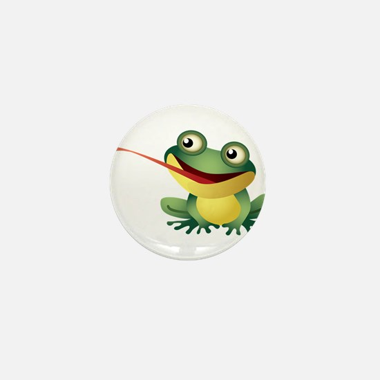 Frog Catching Bug Mini Button