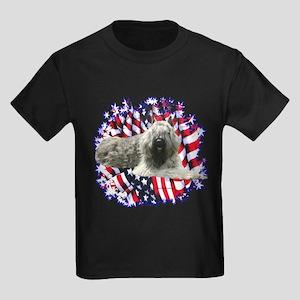 Bouvier Patriotic Kids Dark T-Shirt