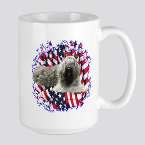 Bouvier Patriotic Large Mug