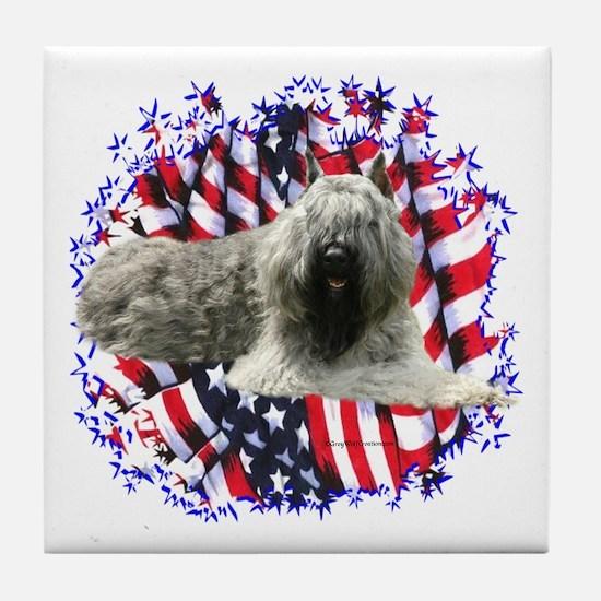 Bouvier Patriotic Tile Coaster