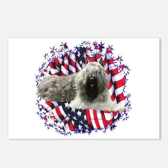 Bouvier Patriotic Postcards (Package of 8)