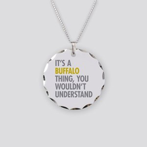 Its A Buffalo Thing Necklace Circle Charm