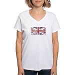 BRITISH UNION JACK (Old) Women's V-Neck T-Shirt