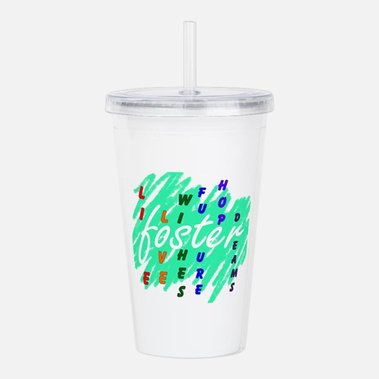 Funny Foster care Acrylic Double-wall Tumbler