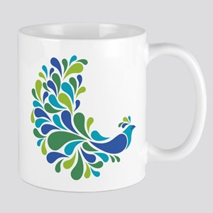 Colorful Peacock Mugs
