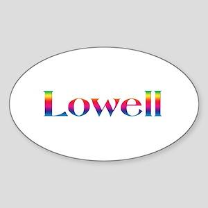 Lowell Oval Sticker