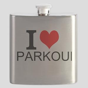 I Love Parkour Flask