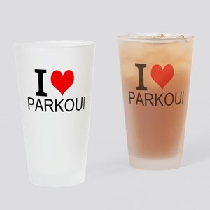 I Love Parkour Drinking Glass