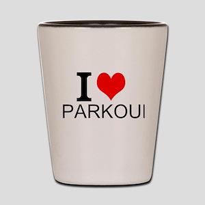 I Love Parkour Shot Glass