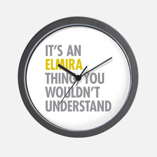 Its An Elmira Thing Wall Clock