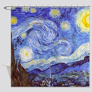 The Starry Night Vincent Van Gogh Shower Curtain