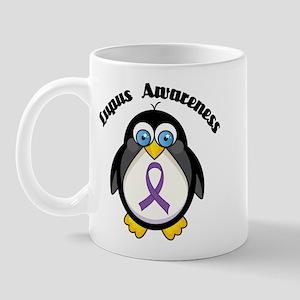 Lupus awareness penguin Mug