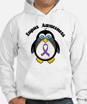 Lupus awareness penguin Hoodie