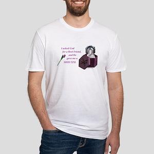Shih Tzu (Black & White) Fitted T-Shirt