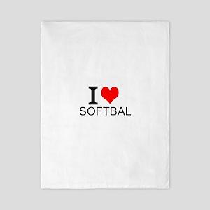 I Love Softball Twin Duvet