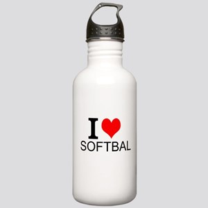 I Love Softball Water Bottle