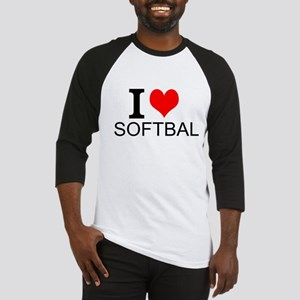 I Love Softball Baseball Jersey