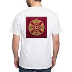 BigAssGrafix Celtic Cross (Red) White T-Shirt