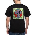 Custom Celtic Cross stained glass Art Dark T-Shirt