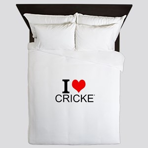 I Love Cricket Queen Duvet