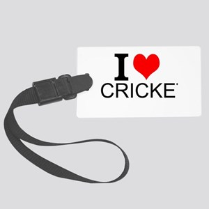 I Love Cricket Luggage Tag
