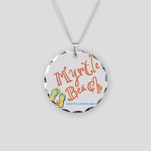 Myrtle Beach - Necklace Circle Charm