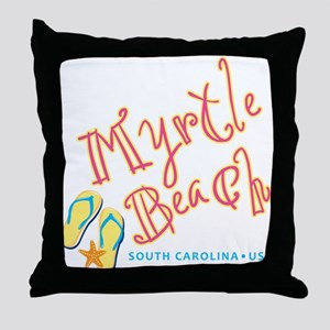 Myrtle Beach - Throw Pillow