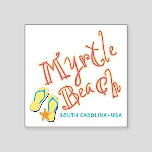 """Myrtle Beach - Square Sticker 3"""" x 3"""""""