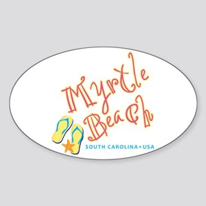Myrtle Beach - Sticker (Oval)