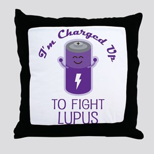 Fight Lupus Throw Pillow